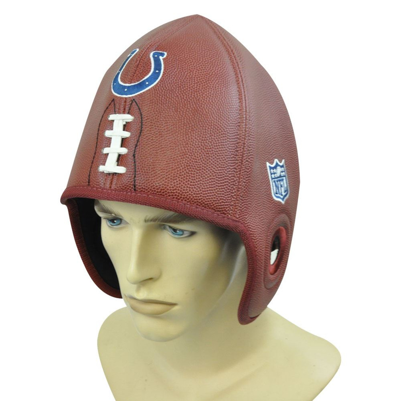 new arrivals 922b3 69a81 NFL Indianapolis Colts Reebok Faux Leather Football Shaped Helmet Head Hat  Cap