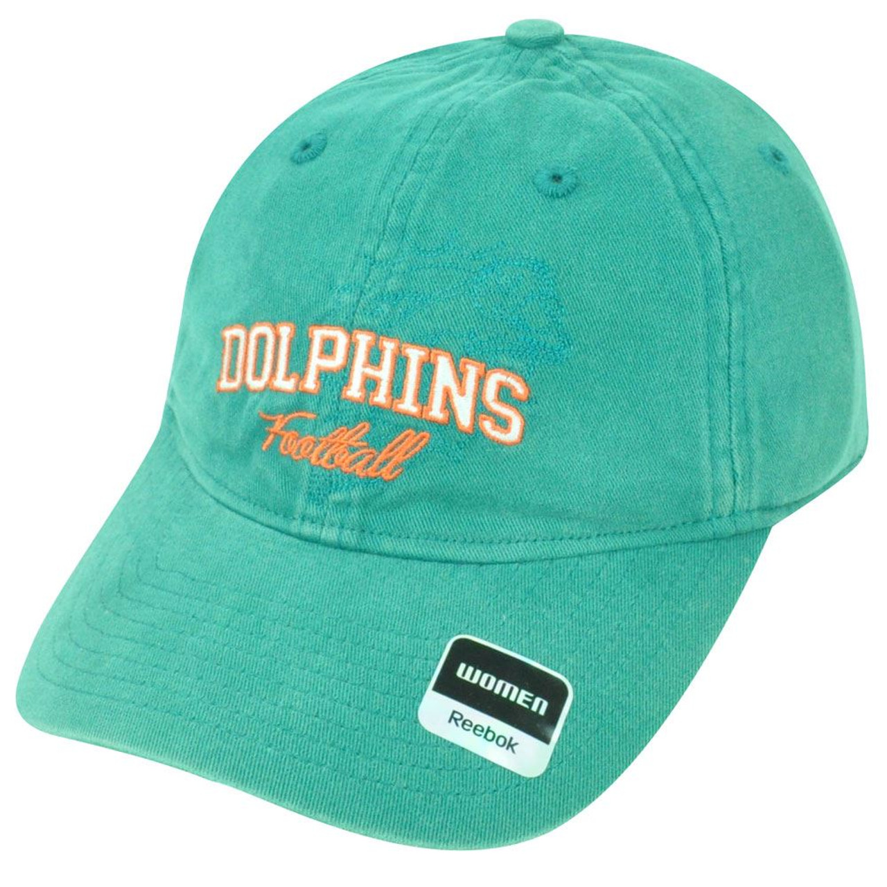 online store a50e0 f8484 NFL Miami Dolphins Relax Reebok Women Clipbuckle Green Adjustable Cap Hat  DH1581