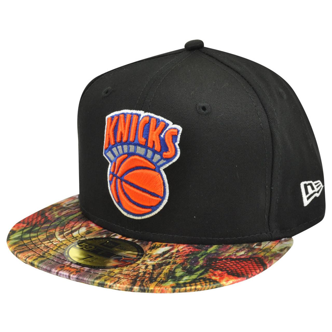 dd93000e NBA HWC New Era 59Fifty 5950 NY New York Knicks Snake Visor Fitted Hat Cap  - Cap Store Online.com