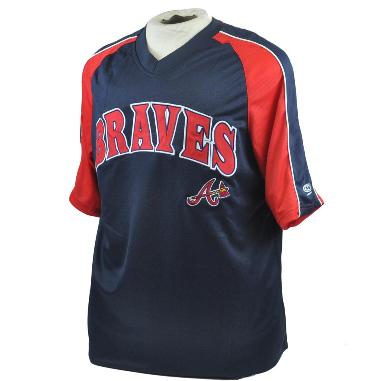 9692a431 MLB True Fan Atlanta Braves Lightweight Licensed Authentic Baseball Jersey  Large - Cap Store Online.com
