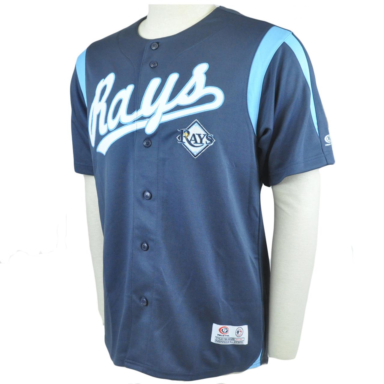 buy popular d5467 5a5b9 MLB Tampa Bay Rays Baseball League Jersey Shirt True Fan Licensed
