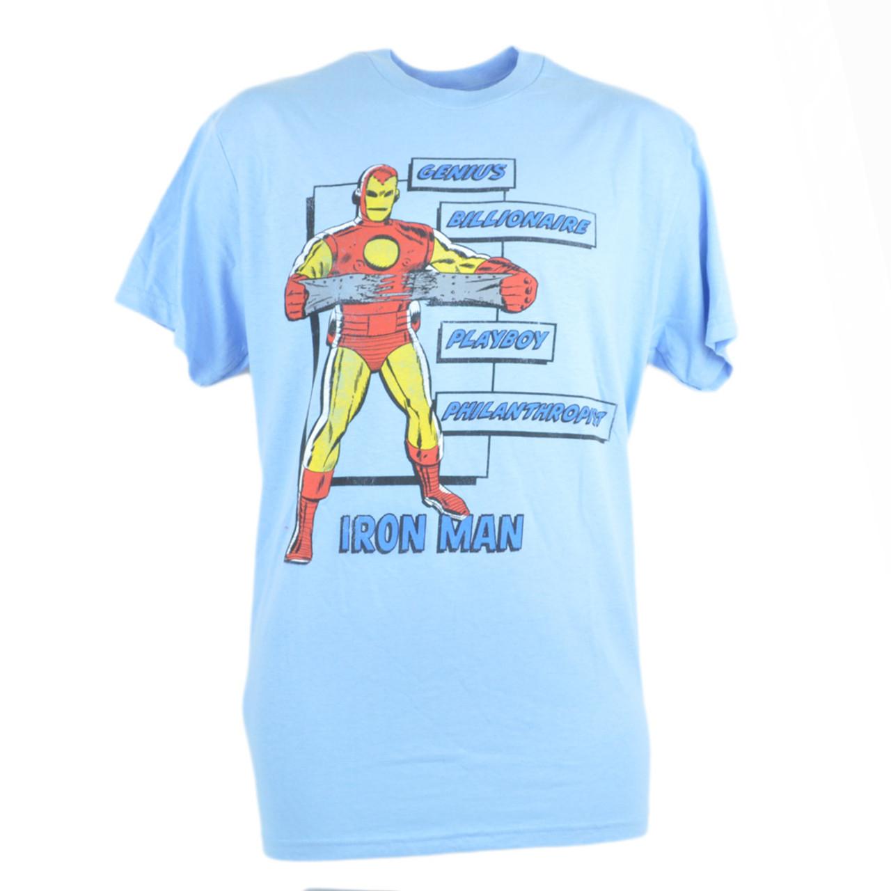 Mens Ironman Iron Man Superhero Gift Genius Billionaire Philanthropist TShirt