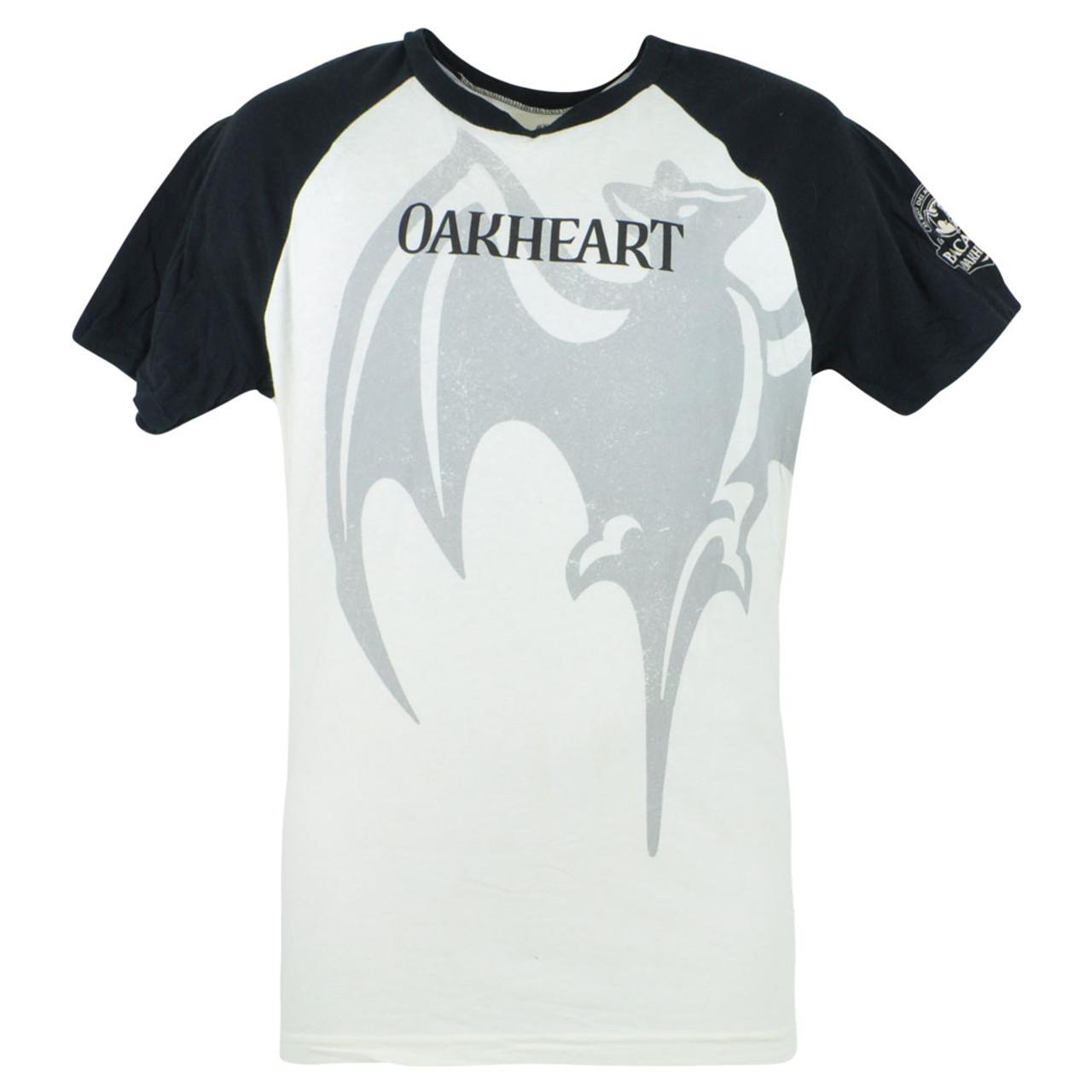 64120b22ead Bacardi Oakheart Original Premium Rum Tee Distress Bat Logo T-Shirt Medium  Beige - Cap Store Online.com