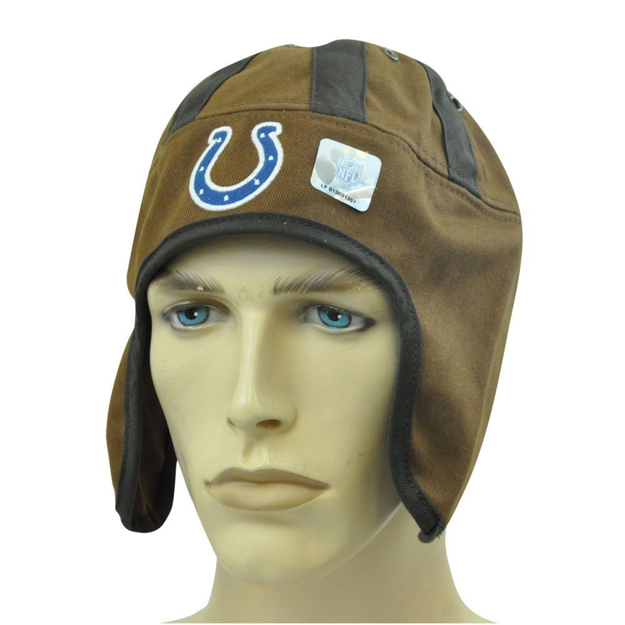 the latest bba8c 4fc6d NFL INDIANAPOLIS COLTS OLD SCHOOL HELMET HEAD HAT CAP