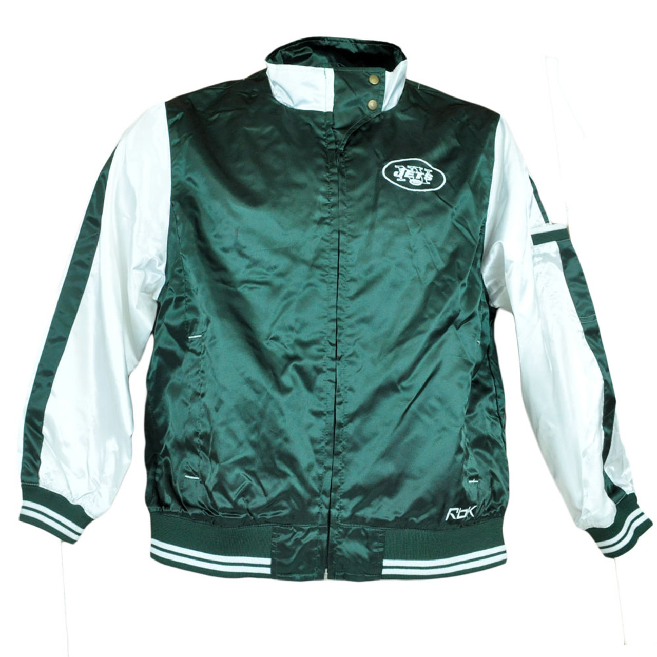 newest df071 e3d24 NFL Reebok Youth Girls Junior Satin New York Jets Jacket Zipper Jersey  Sweater