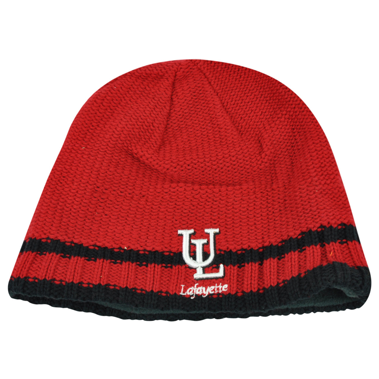 500972bd2db29 NCAA Lafayette Ragin Cajuns Striped Fleece Cuffless Knit Beanie Winter Hat  Toque - Cap Store Online.com