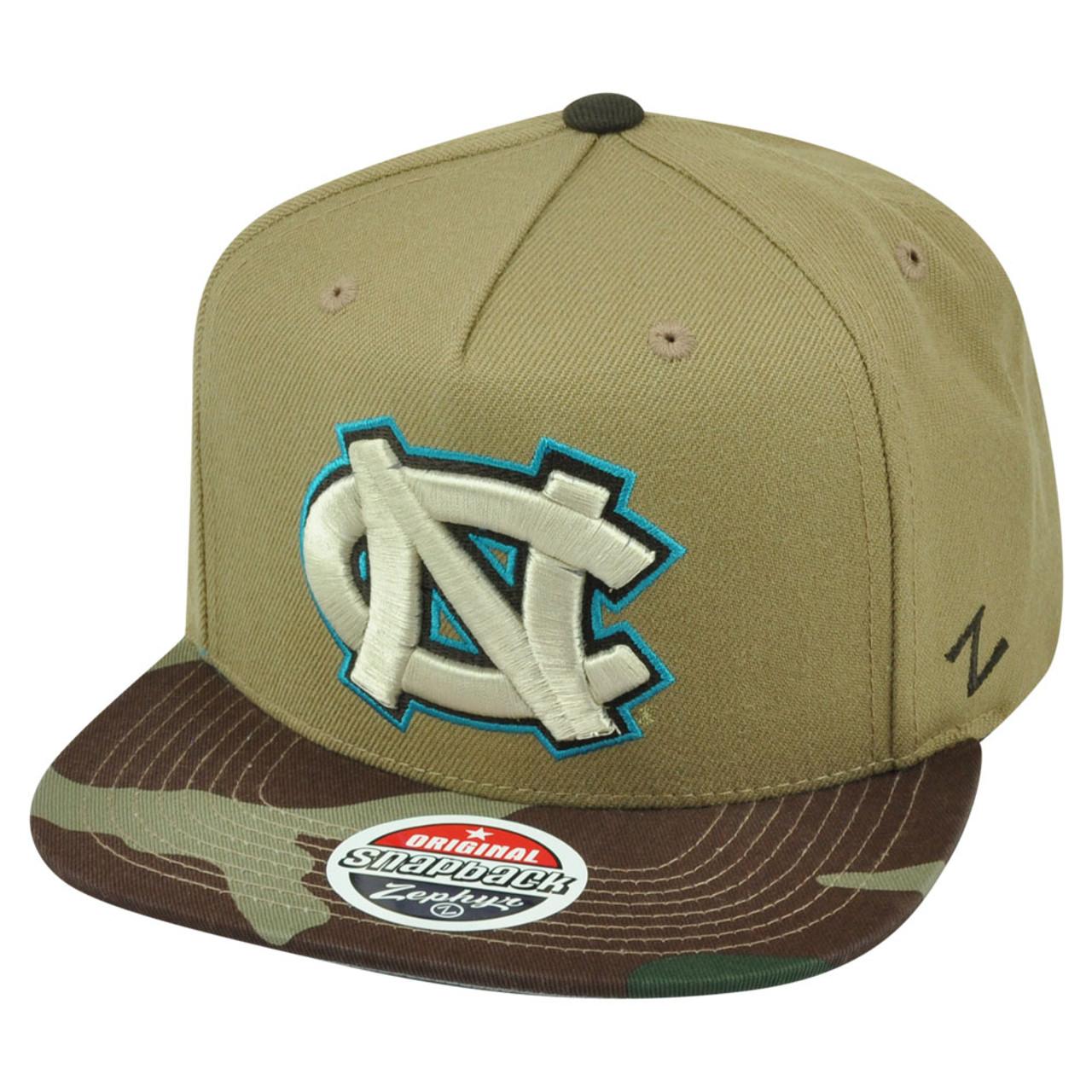 66e6b49b15 NCAA Zephyr North Carolina Tar Heels Zuni 5 Panel Camouflage Snapback Hat  Cap