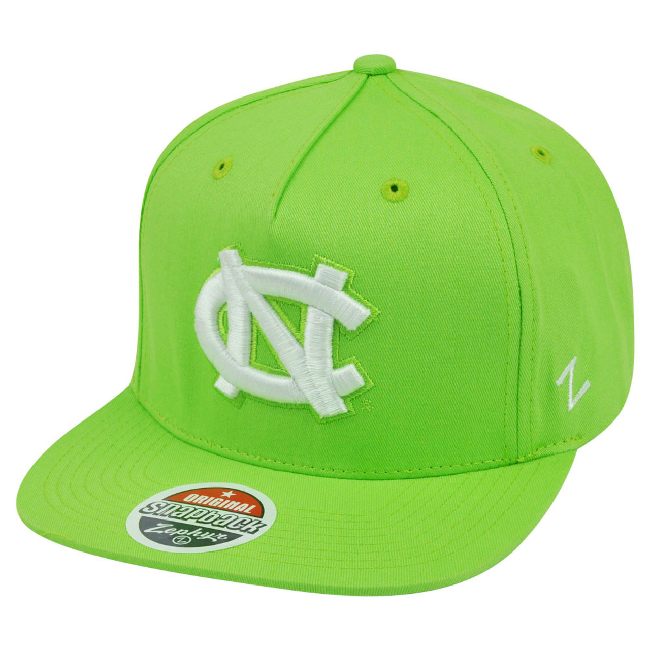 NCAA North Carolina Tar Heels Neon Green Snapback Flat Bill Zephyr Popsicle  Hat - Cap Store Online.com b1c5e67c98
