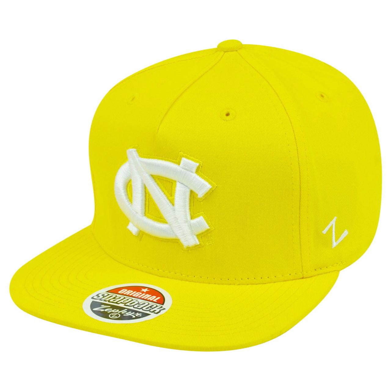 ca399eb39a NCAA North Carolina Tar Heels Yellow Snapback Flat Bill Zephyr Popsicle Hat  Cap
