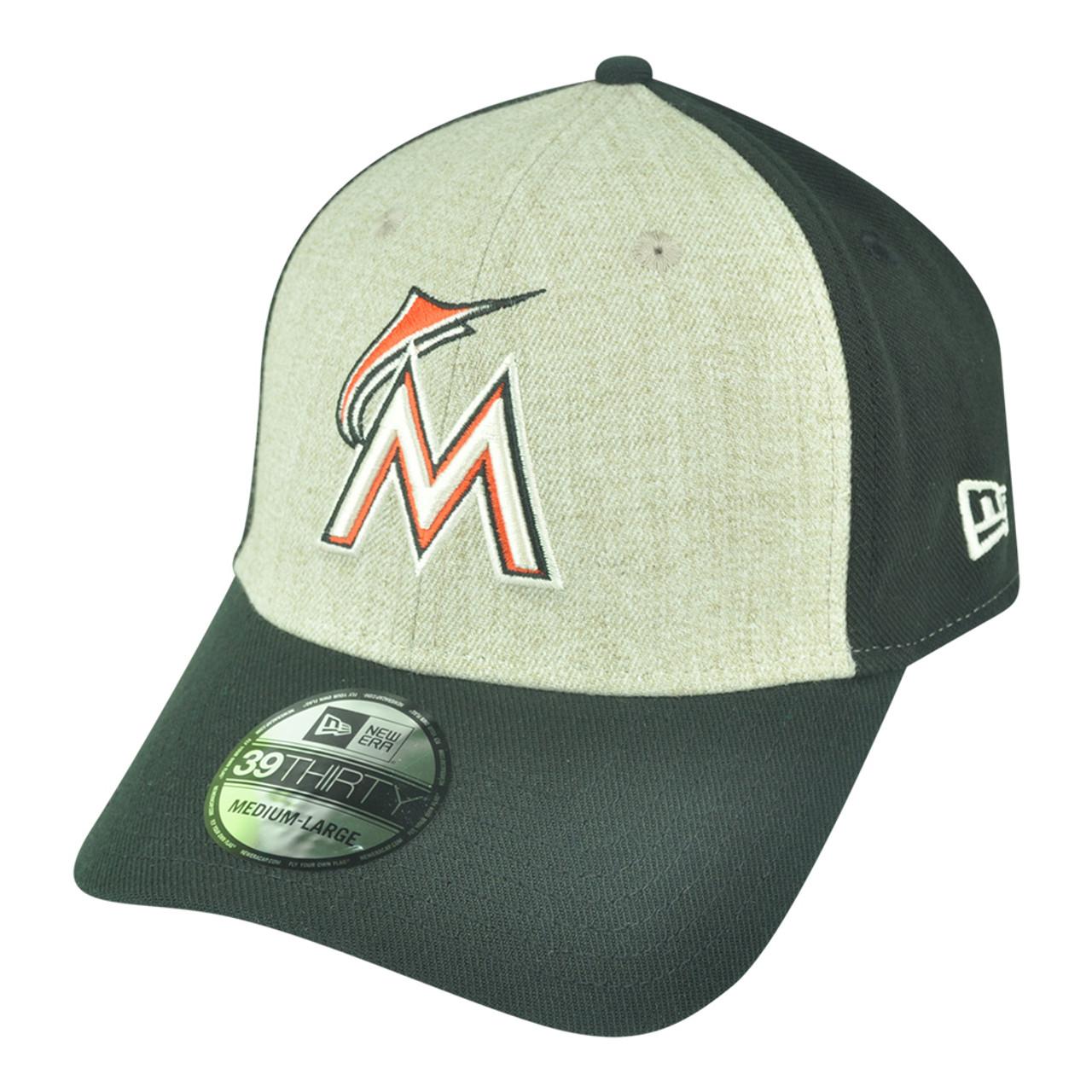 san francisco 4db50 e7764 MLB New Era 39Thirty Miami Marlins Team Fronted Flex Fit M L Stretch Hat  Cap - Cap Store Online.com