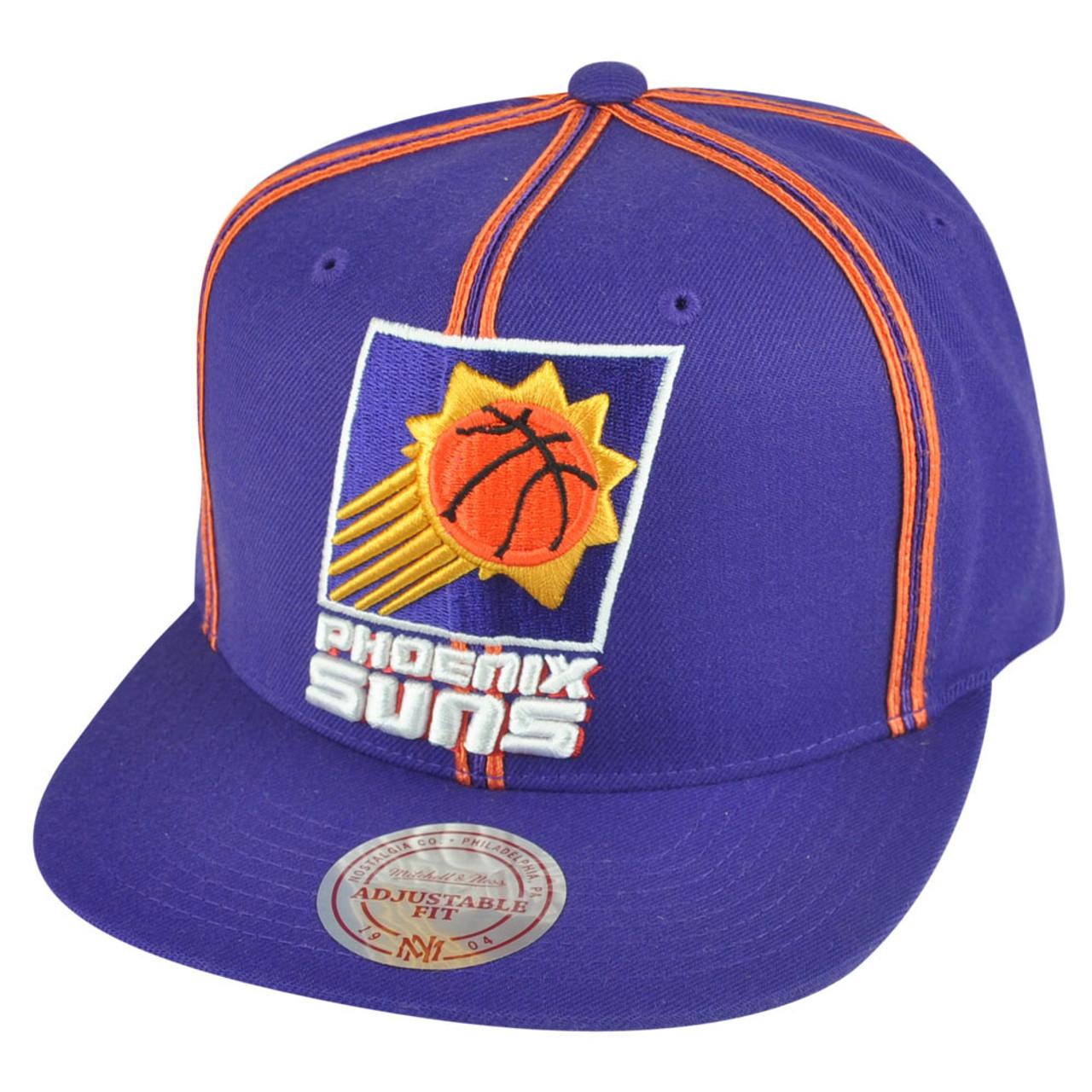 timeless design 726ab 82b71 NBA Mitchell Ness HWC Phoenix Suns NJ08 Panel Outline Retro Snapback Hat Cap