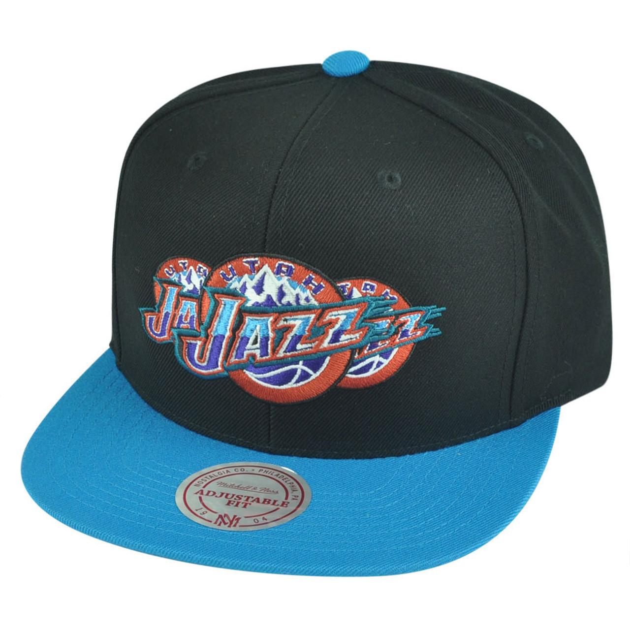 9f6cc0cddc6134 NBA Mitchell Ness Utah Jazz NP57 Triple Stack Logo Flat Bill Snapback Hat  Cap - Cap Store Online.com