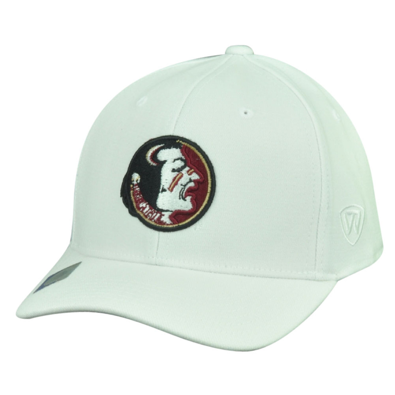 quality design 88789 c4f77 NCAA Florida State Seminoles Top the World Flex Fit Medium Large Hat Cap  White - Cap Store Online.com