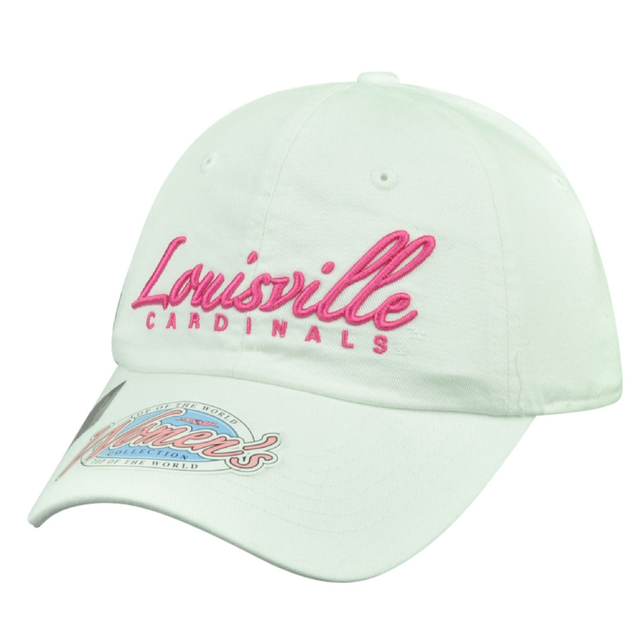 promo code 930c4 fb739 NCAA Top of the World Louisville Cardinals Womens Cut Sun Buckle Hat Cap  White - Cap Store Online.com