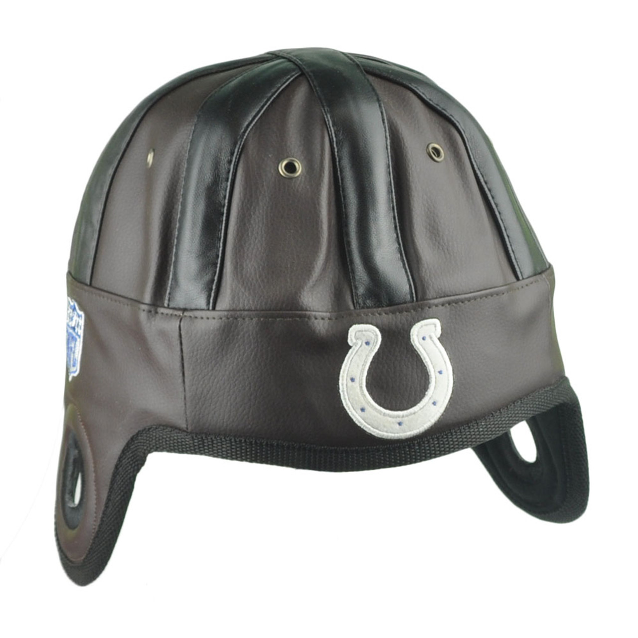 NFL Reebok Indianapolis Colts Faux Leather Helmet Head Hat Cap Game Day  Brown - Cap Store Online.com a24eeaf80dd4