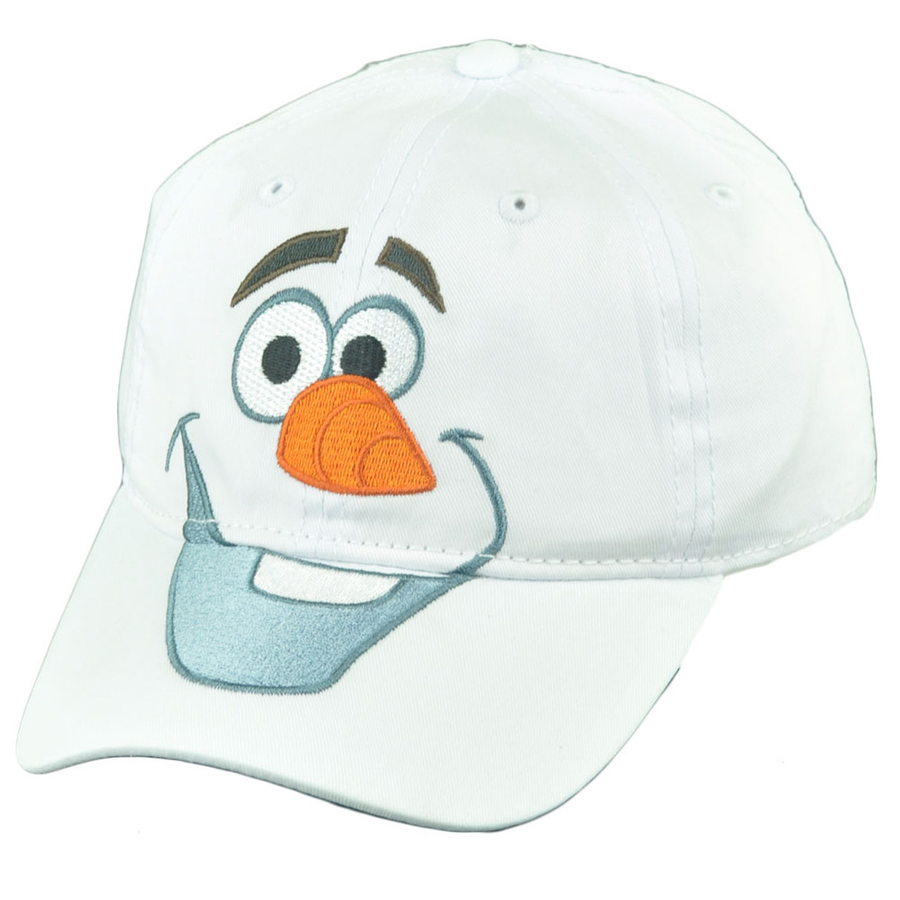 5eed4f5fb1948 Disney Frozen Olaf Face Snowman White Animated Movie Hat Cap Sun Buckle  Relaxed - Cap Store Online.com