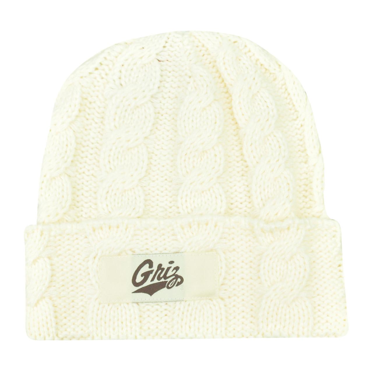 ec3cb7db03c NCAA Montana Grizzlies Griz Kiera Women Ladies Cuffed Crochet Beanie Knit  Hat - Cap Store Online.com