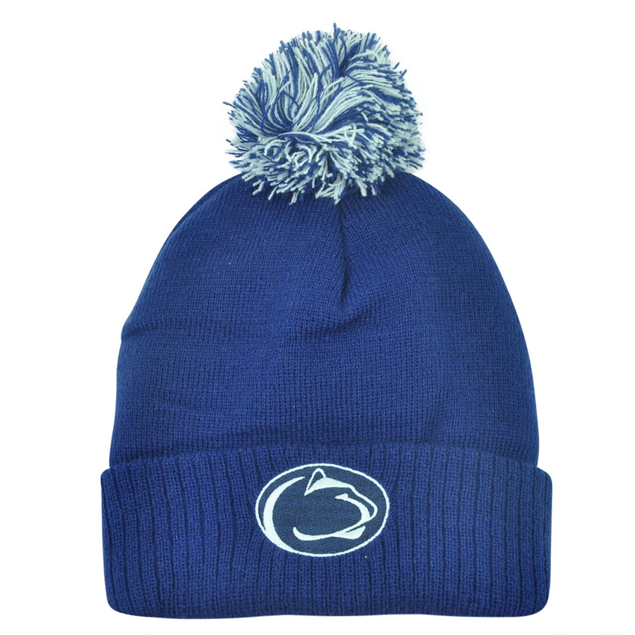 e4fb24c84 NCAA Penn State Nittany Lions Pom Pom Women Pam Cuffed Knit Beanie Toque Hat