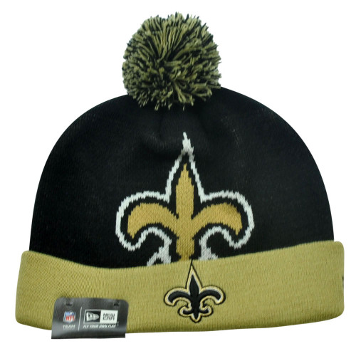 NFL New Era New Orleans Saints Woven Biggie 2 Cuffed Beanie Winter Warm Knit Hat