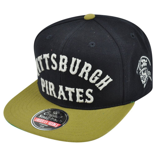 MLB American Needle Pittsburgh Pirates Giant Chamber Throwback Snapback Hat Cap