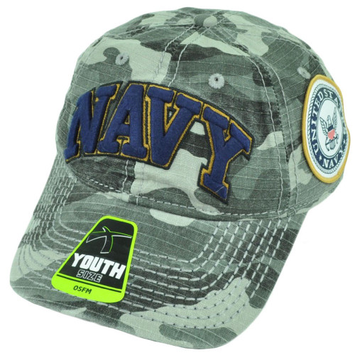 United States Navy Sun Buckle Camouflage Camo Relaxed Hat Cap Youth Military