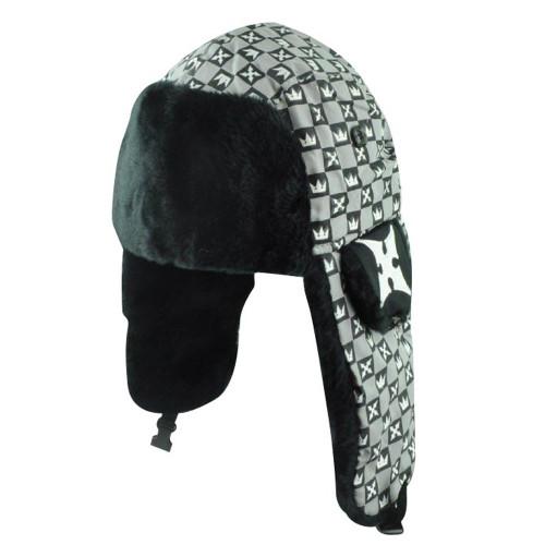3bbc9685efd Disney Kingdom Hearts Video Game Bomber Faux Fur Trapper Roxas Sora Checker  Hat