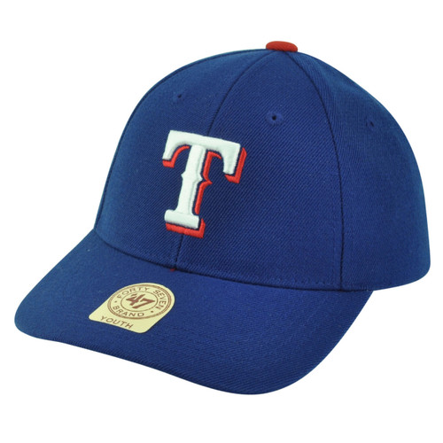 4da7072b27567b MLB '47 Brand Youth Texas Rangers Velcro Adjustable Boys Blue Hat Cap  Baseball