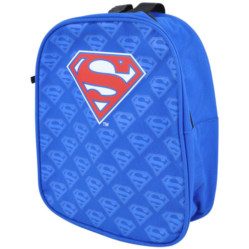 Warner Bros DC Comics Superman Allover Canvas Logo Kids Child Mini Backpack Bag