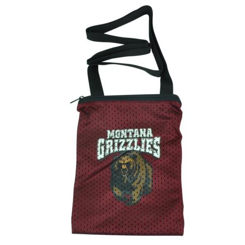 NCAA Montana Grizzlies Messenger Jersey Bag Ladies Women Handbag Purse Griz