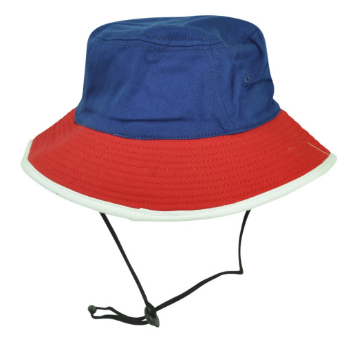 Blue Red Sun Bucket Crusher Fisherman Hat Blank Outdoors One Size 2 Tone Outdoor