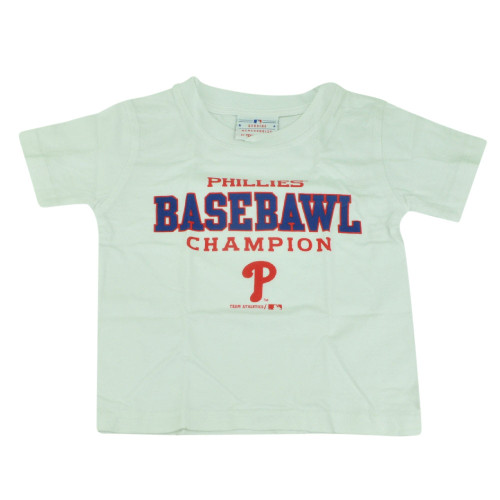 MLB Philadelphia Phillies Baseball Champion Toddler Tshirt Tee White Boys