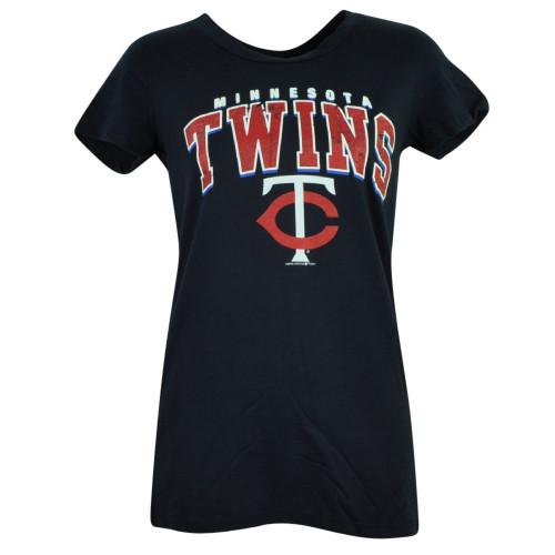 MLB Minnesota Twins Theresa Missy Womens Tshirt Tee Fitted Ladies Short Sleeve