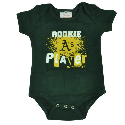 MLB Oakland Athletics Wild Horse Infant Bodysuit Creeper Green Baby Rookie Player