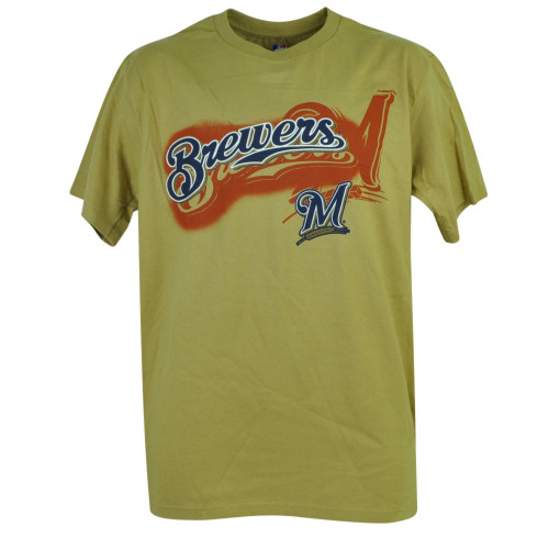 MLB Milwaukee Brewers Dynamic Play Tshirt Tee Mens Adult Short Sleeve Cotton