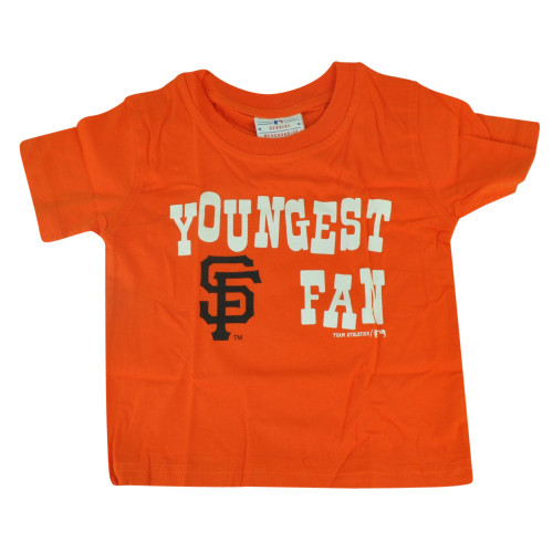MLB San Francisco Giants Haney Toddler Youngest Fan Orange Tshirt Tee Shirt