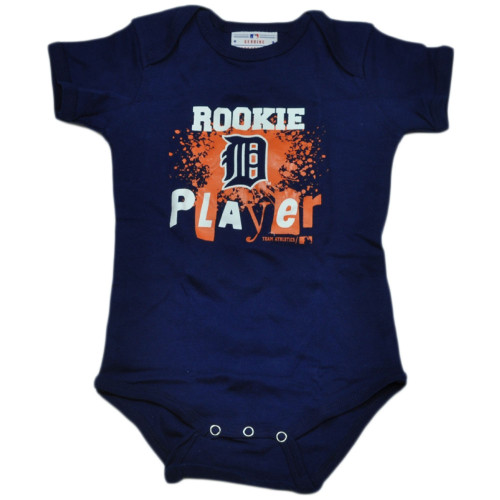 MLB Detroit Tigers Wild Horse Infant Bodysuit Creeper Baby Rookie Player Navy