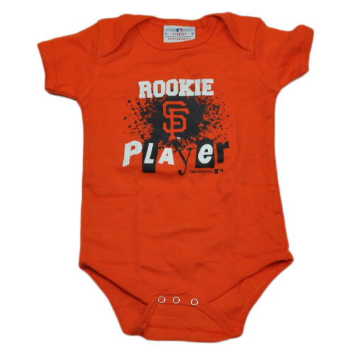 MLB San Francisco Giants Infant Bodysuit Creeper Baby Boy Rookie Player Orange