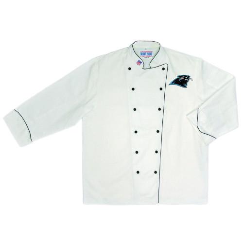 NFL Carolina Panthers Premium Chef Coat Professional Style Tailgate White