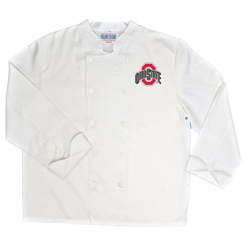 NCAA Ohio State Buckeyes Classic Chef Coat Professional Style Mens White