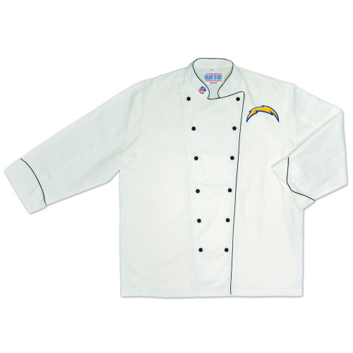 NFL San Diego Chargers Premium Chef Coat Professional Men Tailgate White