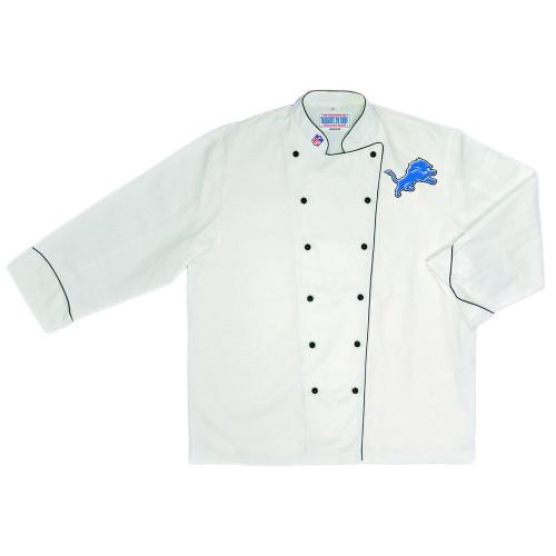 NFL Detroit Lions Premium Chef Coat Professional Style Fan Tailgate White