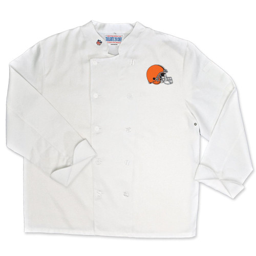 NFL Cleveland Browns Classic Chef Coat Professional Style Tailgating White