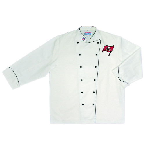 NFL Tampa Buccaneers Premium Chef Coat Professional Tailgate Style White