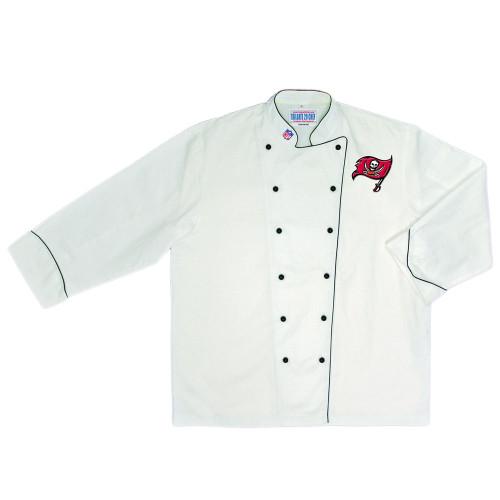 NFL Tampa Buccaneers Premium Chef Coat Professional Tailgate Style White