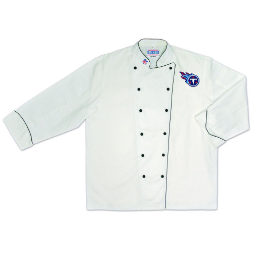 NFL Tennessee Titans Premium Chef Coat Professional Tailgate Style White