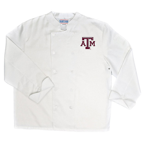 NCAA Texas A&M Aggies Classic Chef Coat Professional Style Tailgate White