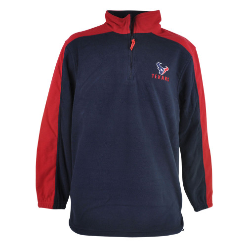 NFL Houston Texans Iron Victory Polar Fleece Mens Track Jacket Pullover