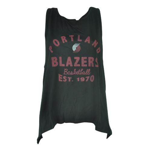 NBA UNK Portland Trail Blazers Women Ladies Black Champ Muscle Tank Shirt