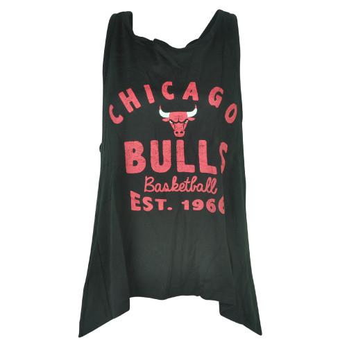 NBA UNK Chicago Bulls Women Ladies Black Champ Muscle Tank Sleeveless Top