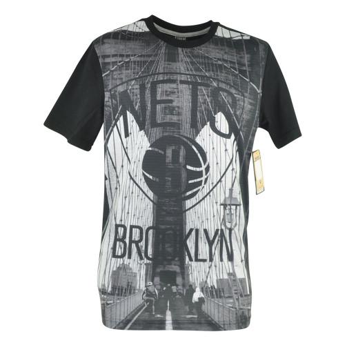 NBA UNK Brooklyn Nets City Wide Bridge Graphic Tshirt Basketball Mens Tee